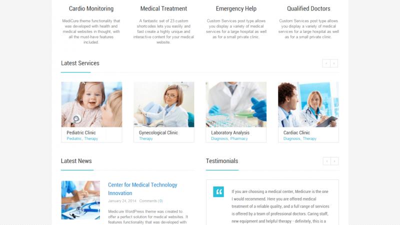 نمونه طراحی وبسایت MediCure